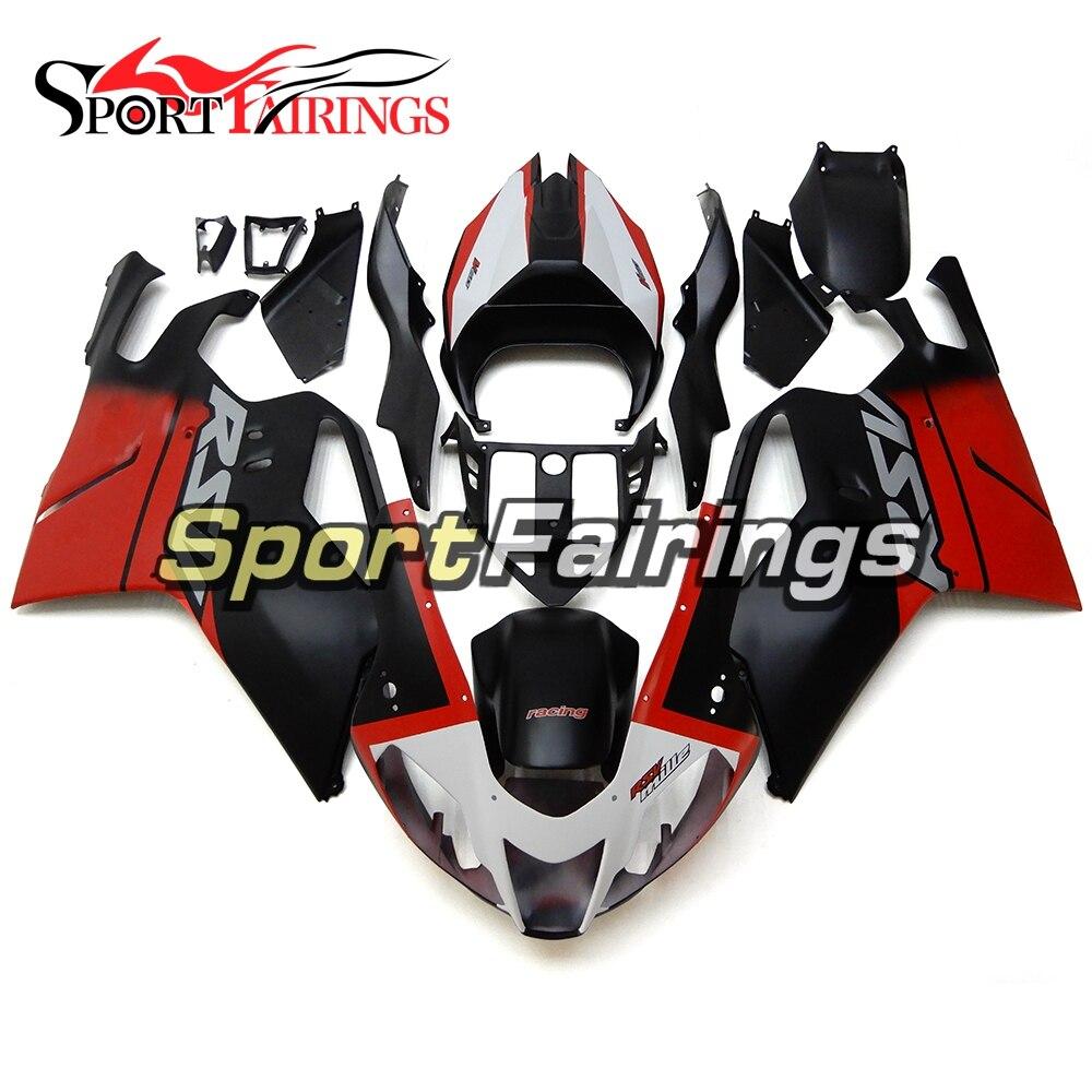 Black Dark Red Cowlings For Aprilia RSV 1000 2003 2004 2005 2006 ABS Plastic Body Frames Bodywork Motorcycle Panel Motobike Hull