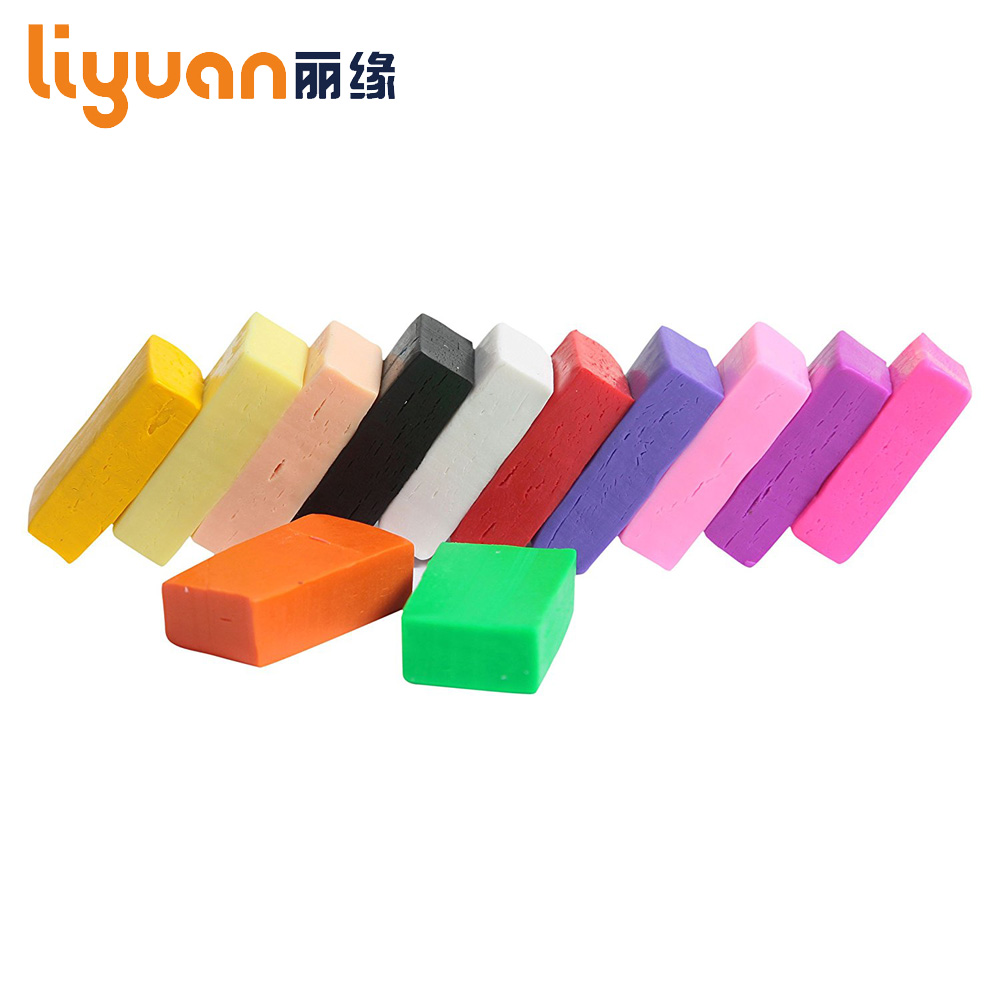 Liyuan Solid Color New DIY Malleable Soft Fimo Polymer Clay مدل سازی پلاستیک 250 گرم