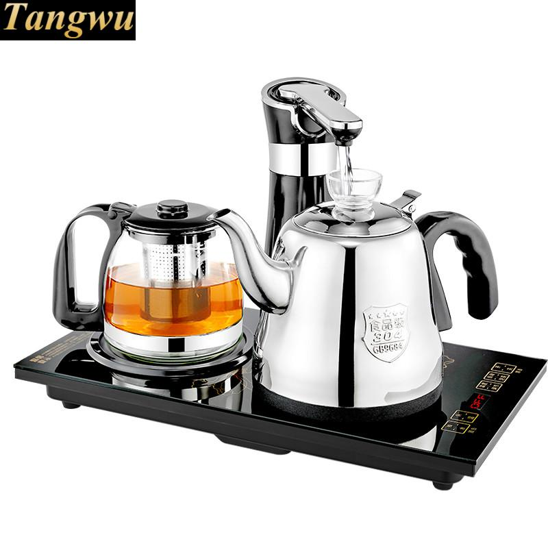 electromagnetic tea stove automatically comes  kettle electric set hot Overheat Protection special offer wholesale manufacturers zisha tea pot set storage tank fuwa gift tea set collocation store mixed batch