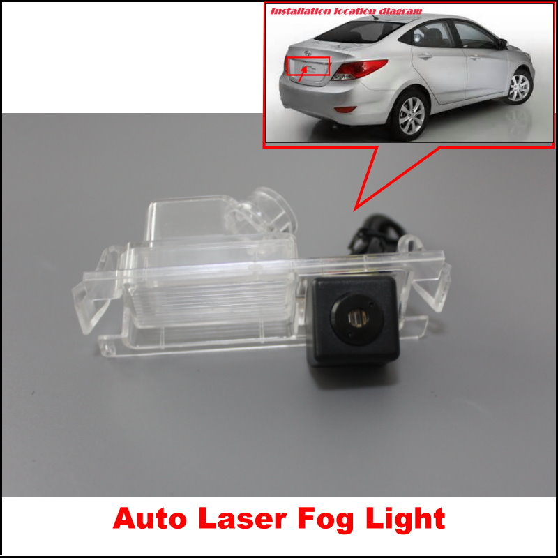 Car Laser Rear Fog Lamp / For Hyundai Solaris Fluidic Verna led Styling Anti Collision Tail Lamps Electronics
