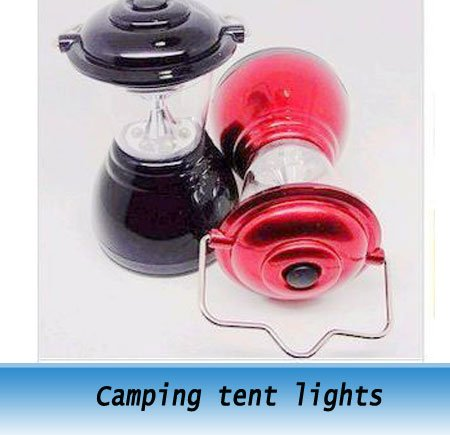 Camping tent lights 6 LED Lantern Fishing Lamp free shipping 10pcs