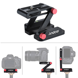 Image 5 - Andoer New Z shaped Quick Release Plate Foldable Camera Desktop Holder Tilt Head for Canon Nikon Sony Pentax DSLR Video Slider