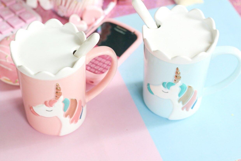 Aliexpress.com : Buy 2018 Creative 3D Relief Glod Unicorn Coffee Mug ...