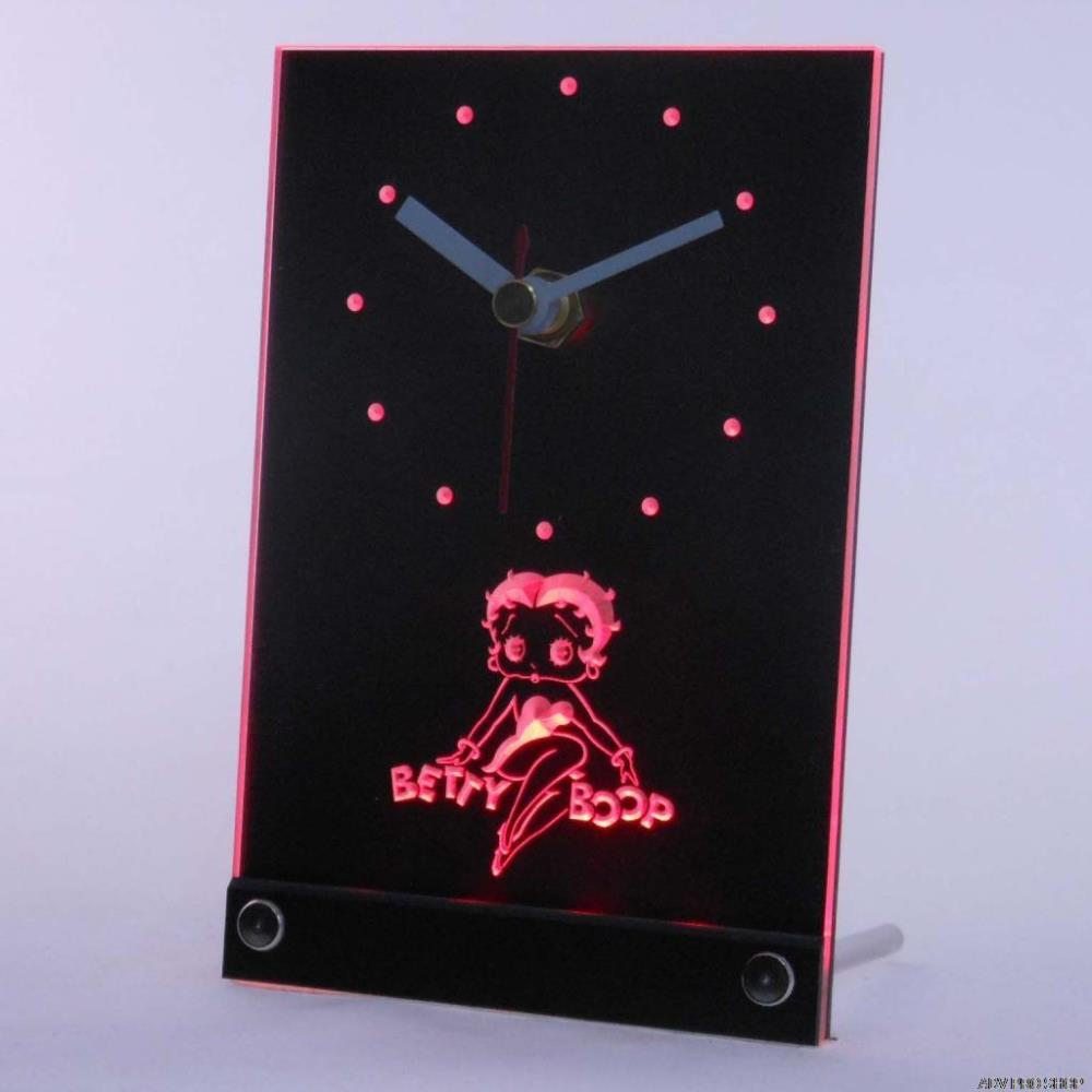 Tnc0233 Betty Boop Table Desk 3D LED Clock