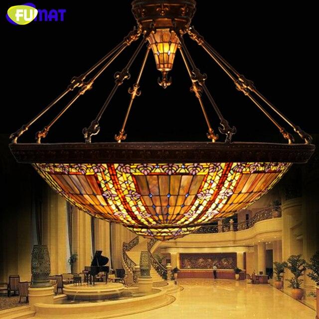 Fumat stained glass chandelier european classic baroque lamp lobby fumat stained glass chandelier european classic baroque lamp lobby hotel chandeliers art glass shade living room aloadofball Gallery