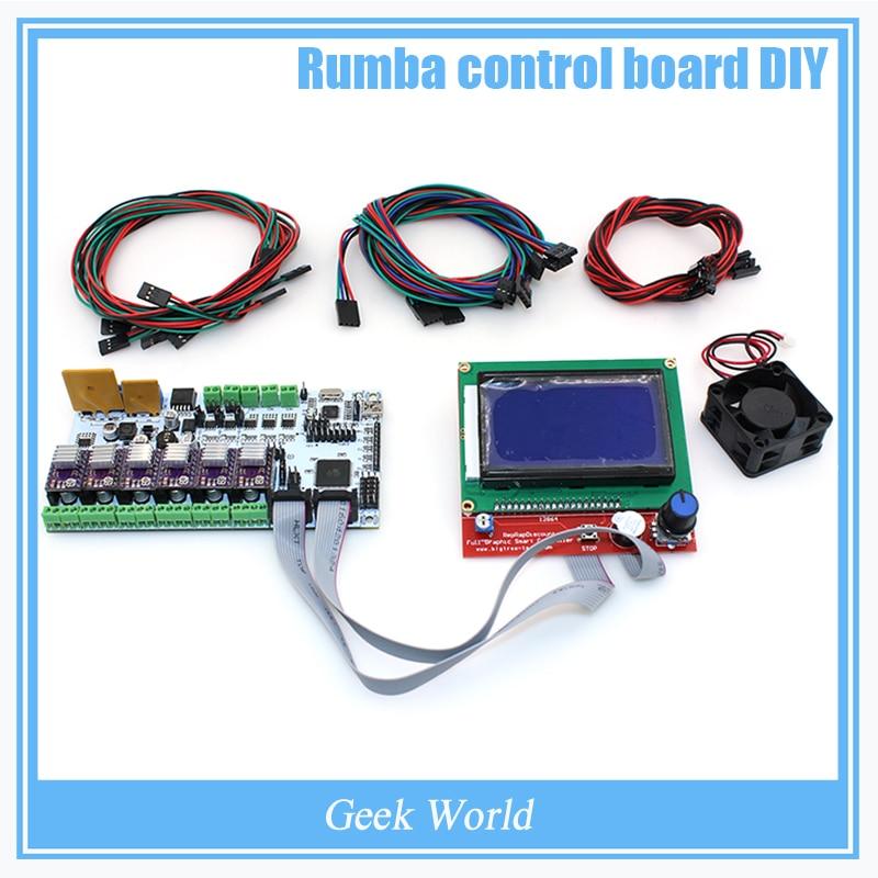 BIQU Rumba control font b board b font DIY cooler fan LCD 12864 controller display jumper