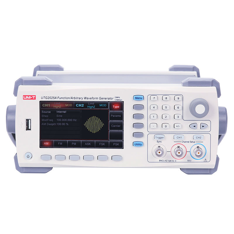 UNI T UTG2025A Digital Signal Generator 2Channels DDS Function Generator Arbitrary Waveform/Pulse Frequency Meter 14Bits 25MHz uni t utg9005a 5mhz dds universal waveform signal function generator