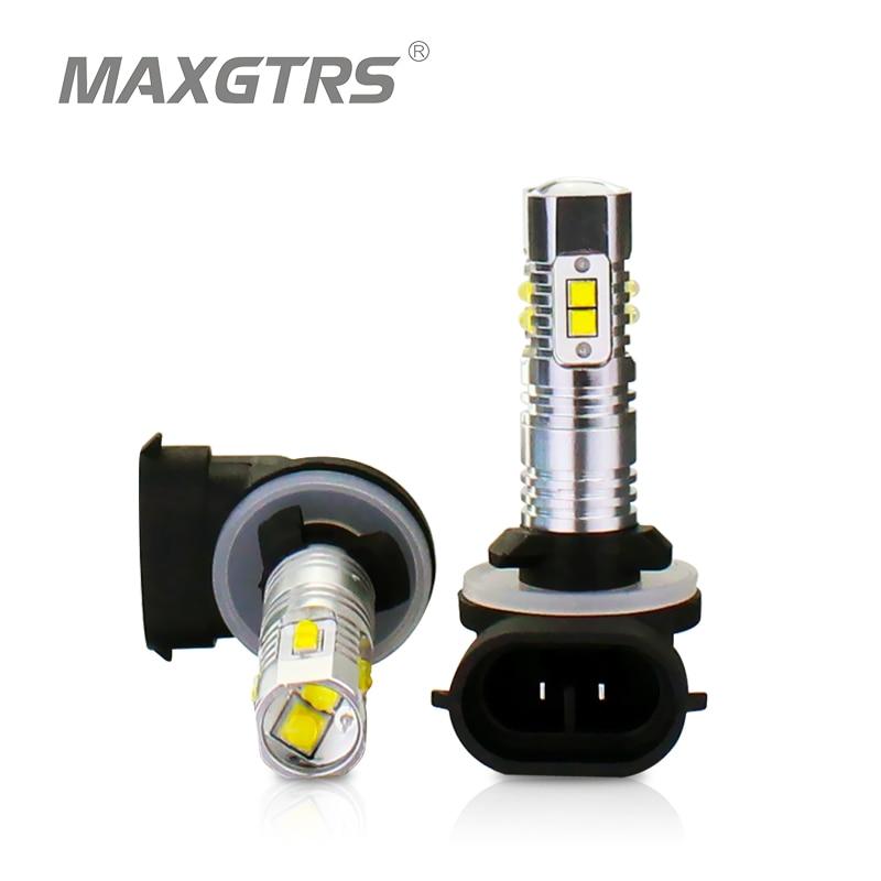 2x H27 881880 CREE Chip-XBD Bombilla de luz antiniebla para automóvil de alta potencia blanca / roja / amarilla Lámpara de luz externa DRL Luz de conducción diurna para automóvil