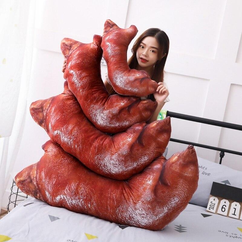110cm grande taille jouet cochon pieds en peluche jouet mignon endormissant lit oreiller doux coussin tissu doux pour les enfants comme un cadeau de noël - 3