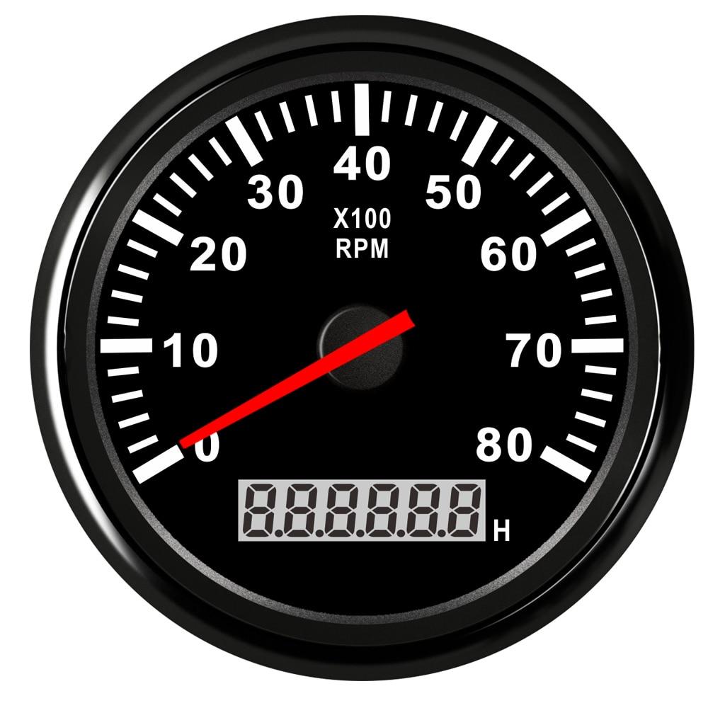 Image 2 - Digital Engine Tach Hourmeter Tachometer Gauge 6000 /8000 /9990 RPM Meter Display for Motorcycle Motor Marine Car-in Tachometers from Automobiles & Motorcycles
