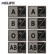 Сувенир 3D вышивка Тип крови патч для группы военные тактические заплатки A+ O+ B+ AB+ Положительный A-B-AB-O-отрицательные значки