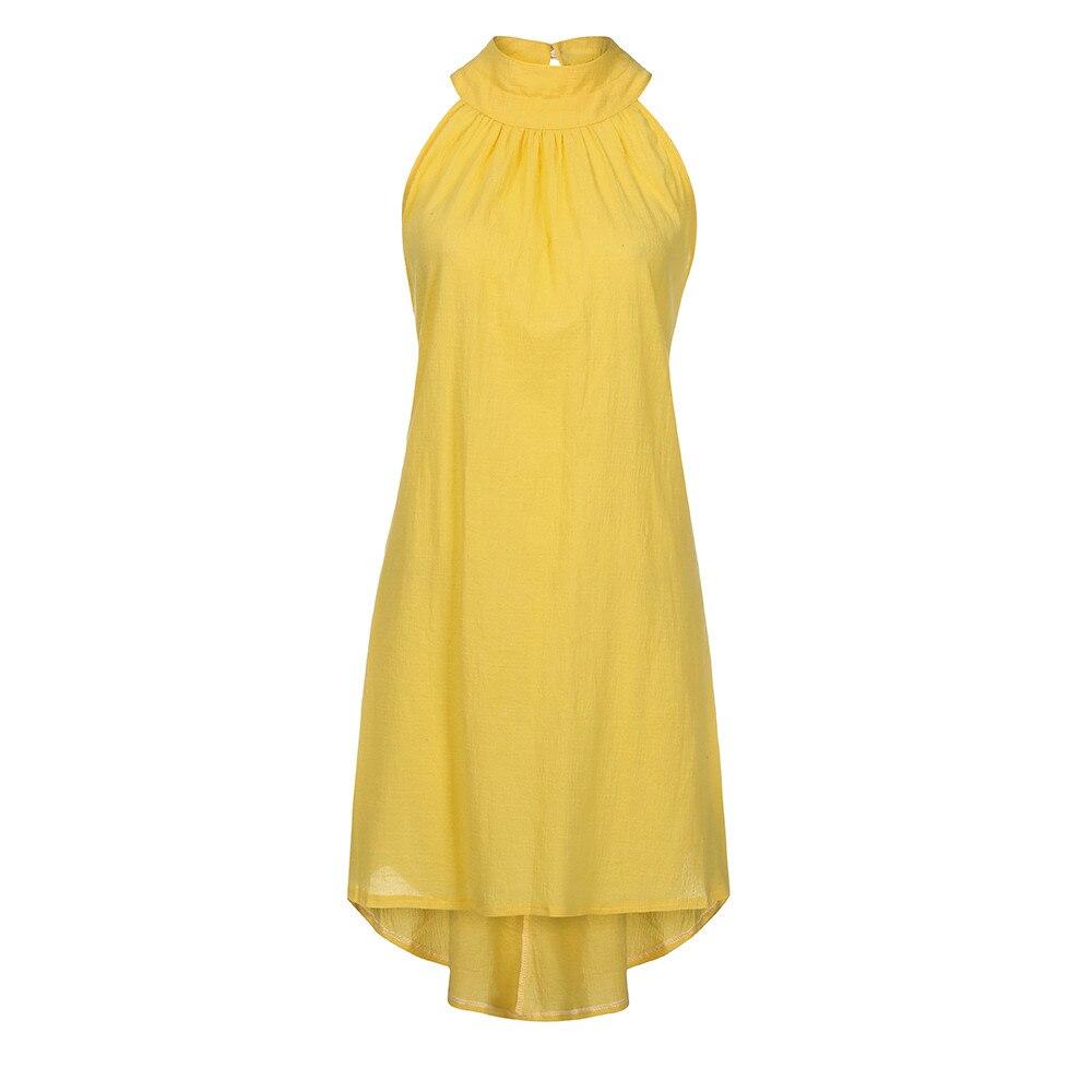 HTB1Eghry9zqK1RjSZPcq6zTepXad Womens Holiday Irregular Dress Ladies Summer Beach Sleeveless Party Dress vestidos verano 2018 New Arrival dresses for women