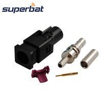 Superbat автомобильный DAB+ спутниковый радио антенный разъем Fakra A черный/9005 Женский обжимной кабель RG316 RG174 LMR100 длинная версия