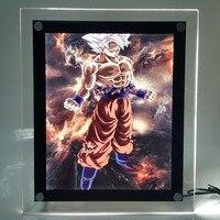 Dragon Ball Z Son Goku Ultra Instinct LED Frame Night Light Dragon Ball Super Goku Lampara Dragon Ball Led For Christmas