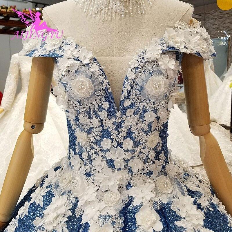 AIJINGYU Vintage Estrelas Vestidos Indianos Baratos Reino Unido Mulheres Boho Do Vintage Vestido de Casamento Branco Sexy Indiano Vestido de Desconto Vestidos De Noiva - 5