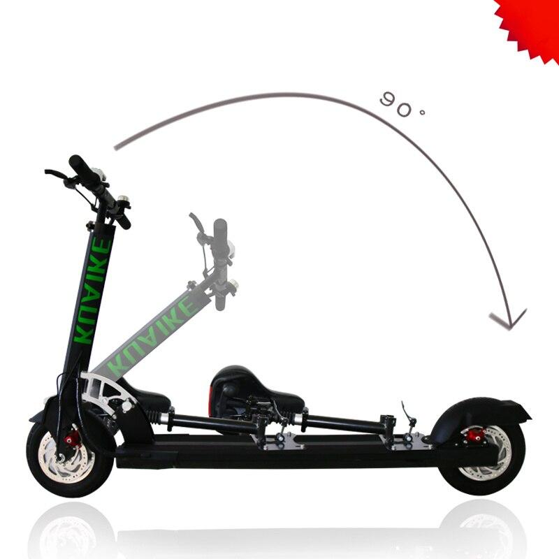 Scooter électrique deux places patinete electrico ville coup de pied scooter électrique brosse double moteur vitesse fixe 10 pouces Q1