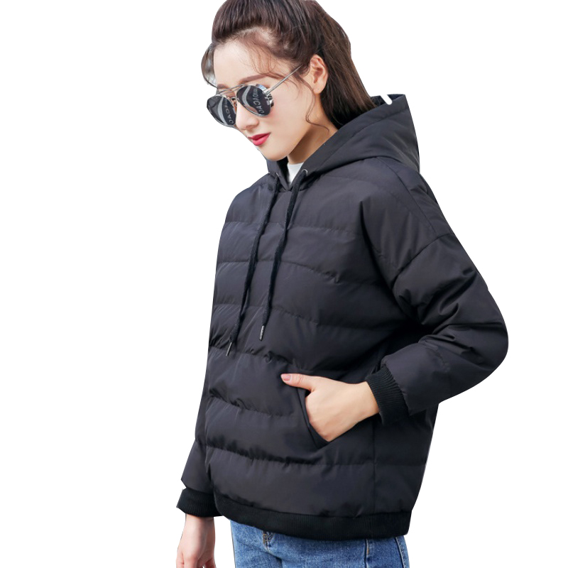 Pullover   Parka   Winter Cotton Padded Clothing Women Fashion Hooded Down   Parkas