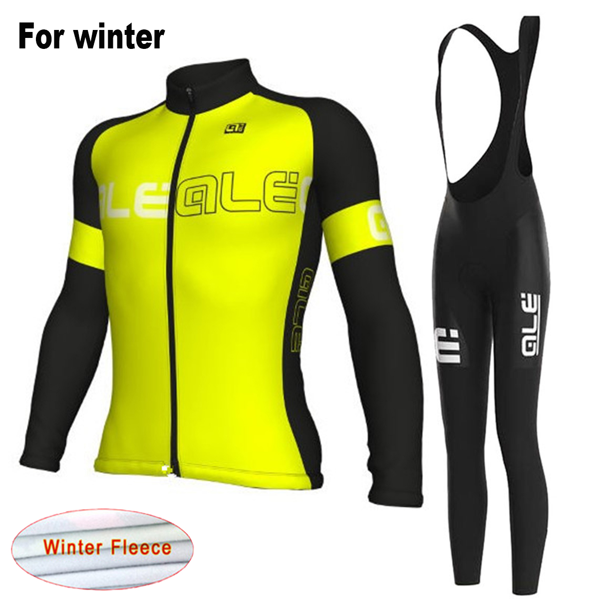 Ale 2017 New Winter Men`s Thermal Fleece Cycling Jersey Set with Bib Short MTB Bike Clothes Team Warm Bicycle Clothing Suit st peter s golden ale