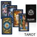 Новая карточная игра  золотые карты Таро  колода  тайна  яркая гадания  fate tarot  игра для женщин  настольная игра