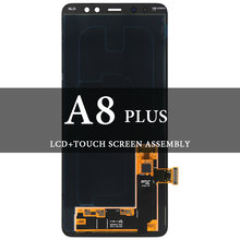 Экран класса для a8 plus 2018 super amoled ЖК дисплей с сенсорным