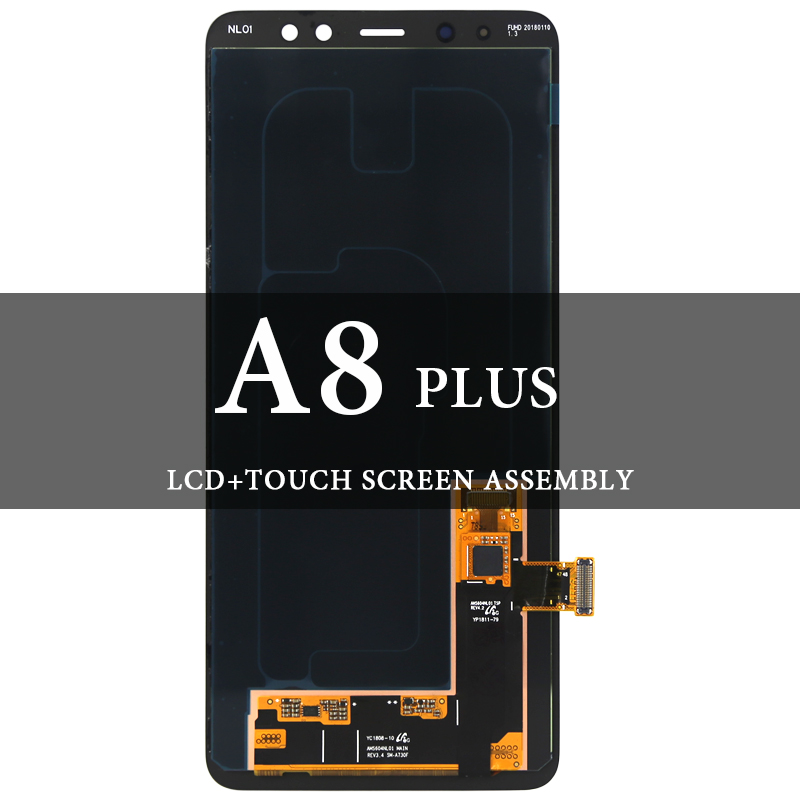 Grade Screen For Samsung A8 Plus 2018 LCD Dispaly Super AMOLED With Touch Screen Assembly For Samsung A730F A730X LCD DigitizerGrade Screen For Samsung A8 Plus 2018 LCD Dispaly Super AMOLED With Touch Screen Assembly For Samsung A730F A730X LCD Digitizer