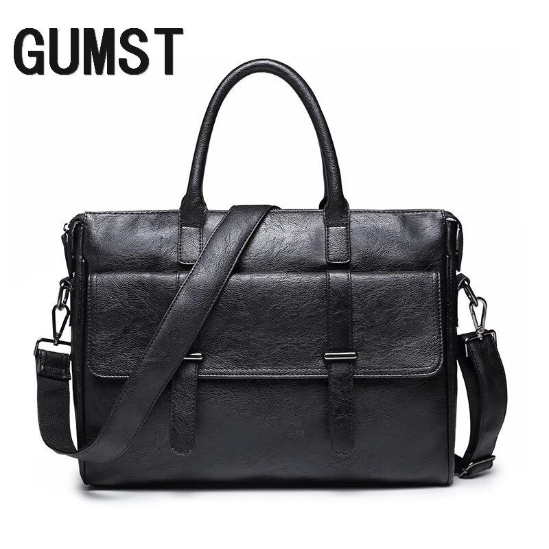 GUMST Brand Men Laptop Bag Briefcase Fashion Men's Business