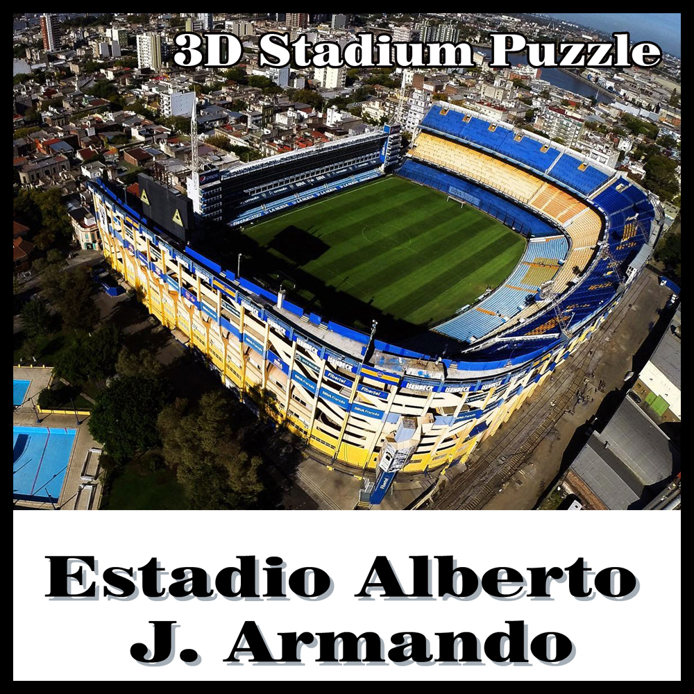 Clever&Happy3D Puzzle Football StadiumLa Bombonera Puzzle Model Games  Atletico Boca Juniors Souvenir Toys Halloween Christmas