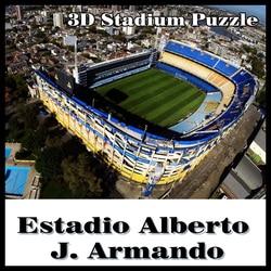 Inteligente y feliz 3D puzzle fútbol stadiumLa Bombonera rompecabezas modelo juegos Atlético Boca Junior souvenir juguetes Halloween Navidad