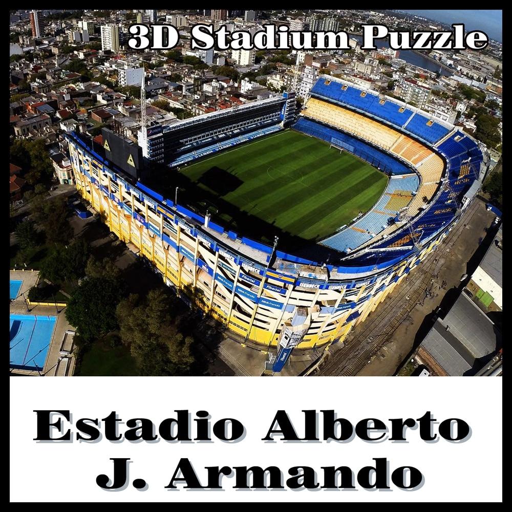 Intelligent et Happy3D puzzle football stadiumLa Bombonera puzzle modèle Jeux Atletico Boca Juniors souvenir Jouets Halloween De Noël