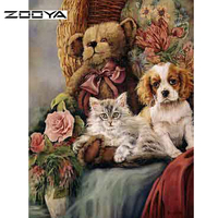 New Arrived DIY Diamond Painting Animals Cat and Dog Cross Stitch full drill Rhinestone Pasted Diamond Embroidery Home Decor F08