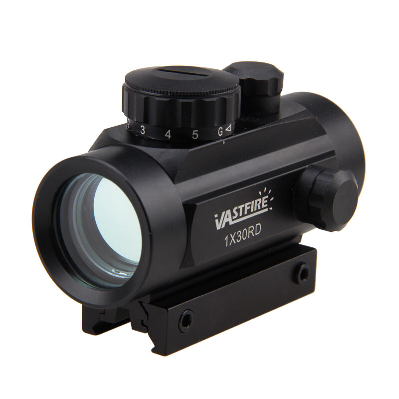 1x40 5MOA Red Dot Scope Sight with Bubble Level 11//20mm Picatinny Rail for Rifle