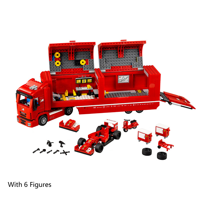 21010 LEPIN Technic Formula F1 Racing Container Truck Model Building Blocks Enlighten Figure Toys For Children Compatible Legoe 3345 technic city series mini container truck model building blocks enlighten figure toys for children compatible 8065