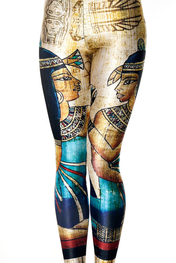 Fashion Women Ancient Egyptian Mural Print Leggings Slim Fit Thin Elastic Polyester Party Pants Casual Trousers Drop Shipping