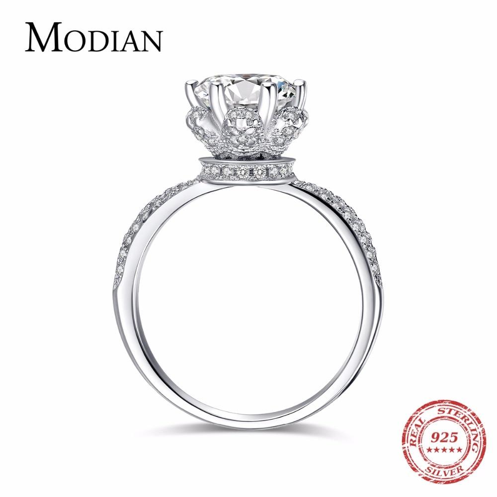 2018 Nova Moda Classic Soild 925 Sterling srebrni vjenčani prsten CZ Zircon Nakit za zabavu brak Prstenovi za žene Poklon