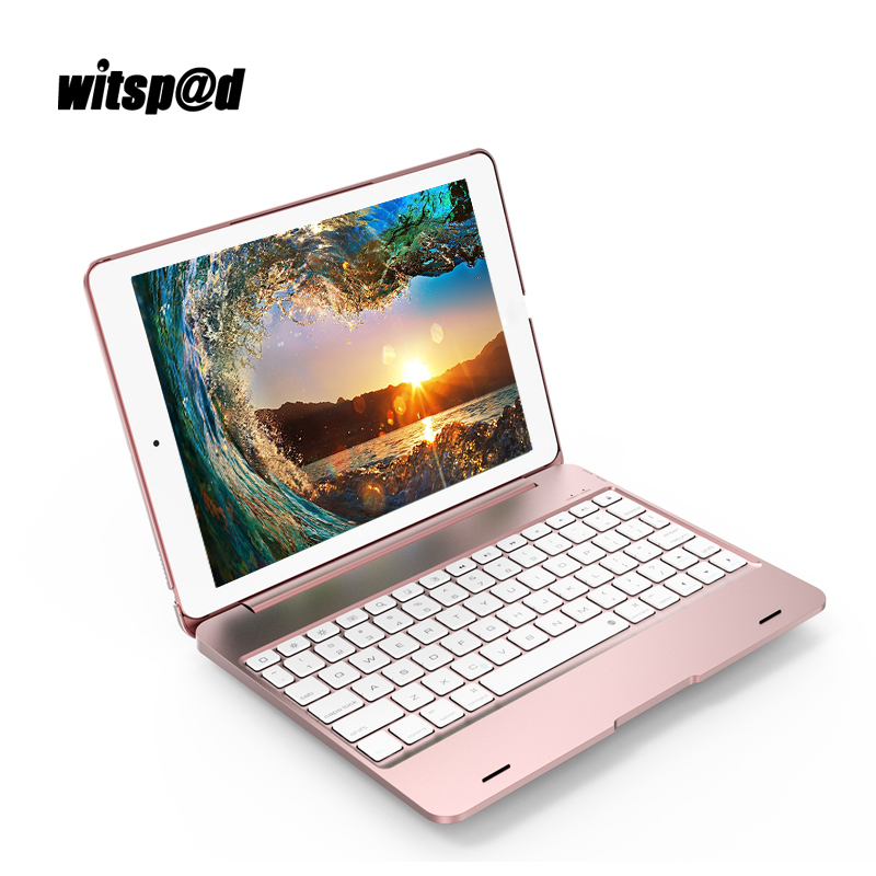 Witsp@d 5 in 1 Tablet Universal Wireless Bluetooth Keyboard for iPad Air 2 Tablet for pro 9.7 Case with Keyboard for iPad 2017 universal tablet bluetooth keyboard leather case cover for 9 7 10 10 1 inch tablet pc for ipad 2 3 4 air 2 samsung lenovo tablet