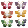 6 Pieces Retro Rhinestone Crystal Butterfly Brooch Pin Wedding Party Jewelry