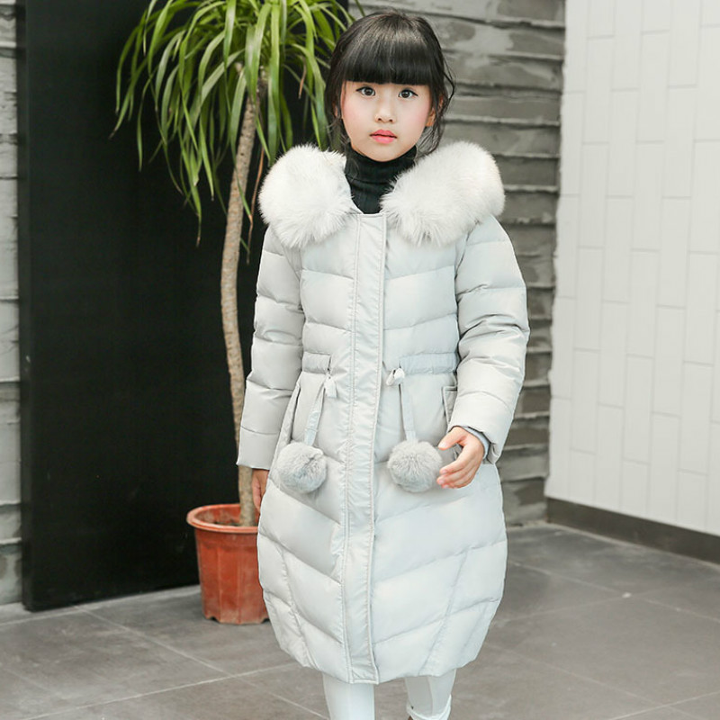 The Children Down Big Boy Girls In The Long Section of The Child's Female Baby Boy In New Thick Coat boy windbreaker 2018children s windbreaker coat in the long section of self cultivation in the korean version of children s wear