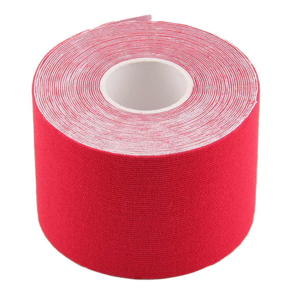 5 цветов 5 см x 5 м Спортивная мышечная лента с наклейками рулон Эластичный клейкий хлопковый повязка для мышц повреждение ранение Поддержка Бесплатная доставка