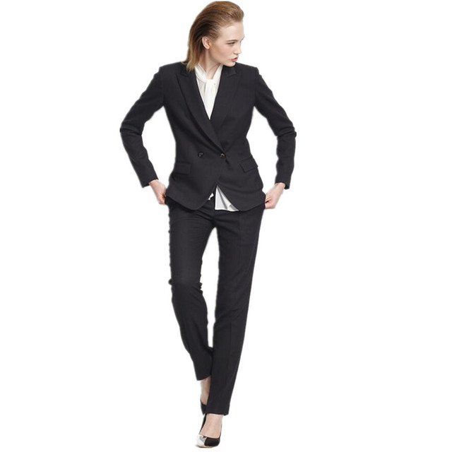 Pantalones Mujer 2017women Suit Western Style Jacket Pants High