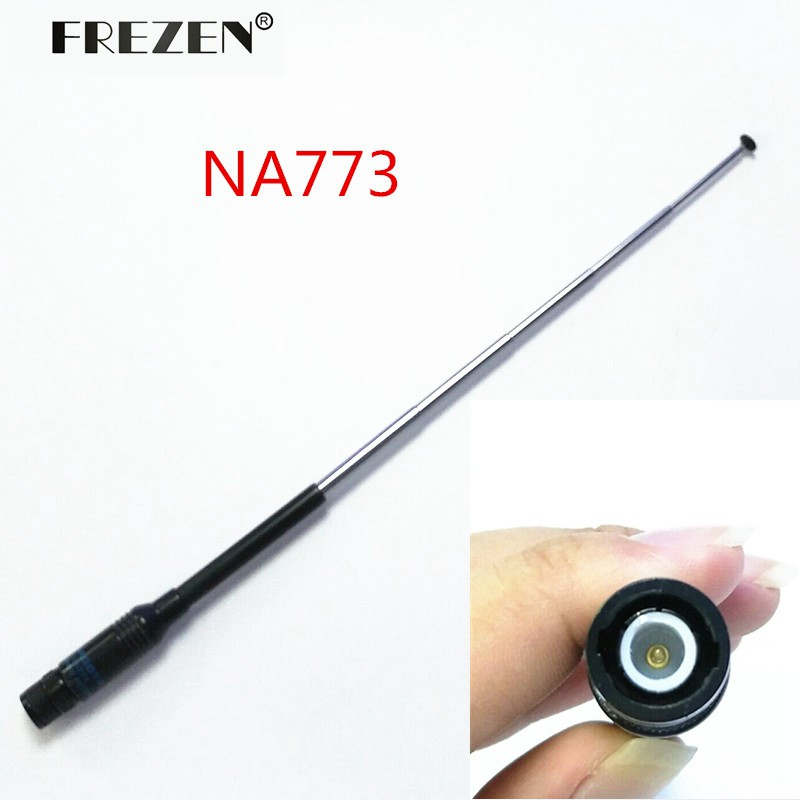 Antenna NA-773 144/430 MHz Telescopic Antenna BNC Connector For ICOM IC-V8/V82 Two Way Radio Free Shipping