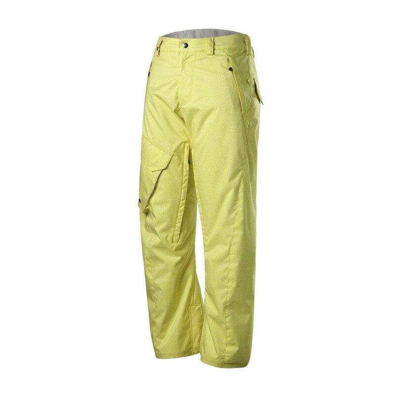 2018 GSOUSNOW hiver chaleur imperméable à l'air perméable hommes pantalons de ski simple planche double planche résistant à l'usure pantalon de ski
