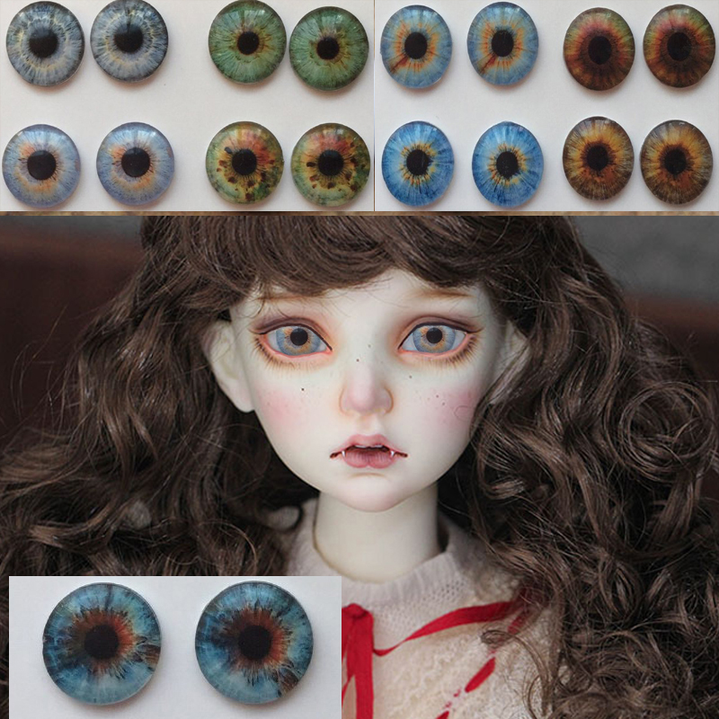 Bjd 9 Color Cartoon BJD Eyeball 12mm 14mm 16mm 18mm 20mm 22mm Acrylic Eyeball Bjd Doll Handmade Plastic Eyes 1/4 1/6 SD Doll
