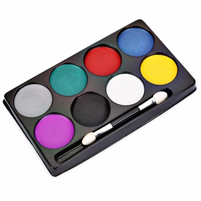 8 Colors Face Paint Halloween Makeup Non toxic Water Paint Oil ...