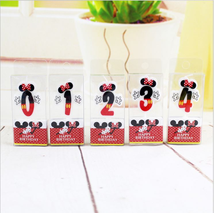 New To The Lovely Cartoon Figures Birthday Candles Birthday Cake Decorations Party Wedding Decorations [0-9] A127