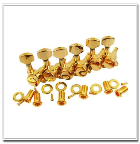 1 set of 6R Gold Locking Guitar Tuners Machine Head Tuning Pegs for Replacement popular guitar tuners 6r gold guitar locking tuners jn 07 sp guitar tuners