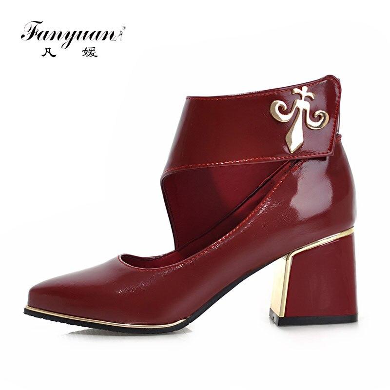 New Arrivals Fashion Thick Med Heels Platform Pumps Dress Shoes For Women Vintage Style  Summer And Spring Pumps