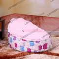FREE SHIPPING baby bean bag cover with 2pcs brigh pink up cover baby bean bag chair baby seat cover kid's lazy chair