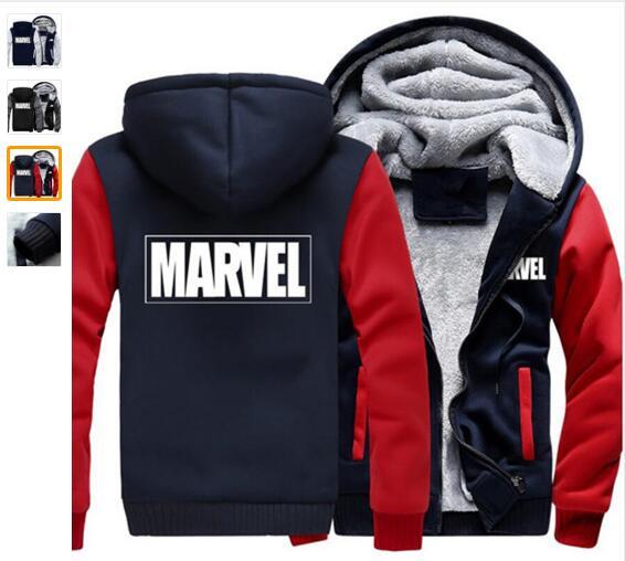 Fashionable new Hoodies Men Women Marvel Zipper Jacket Sweatshirts Thicken Hoodie Coat Clothing Casual
