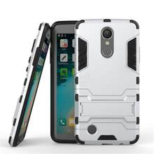 New Dual Layer Hybrid Tough Rugged Armor For LG K8 2017 Case Fundas PC+TPU Kick Stand Back Cover For LG V30 Mobile Phone Bags(China)