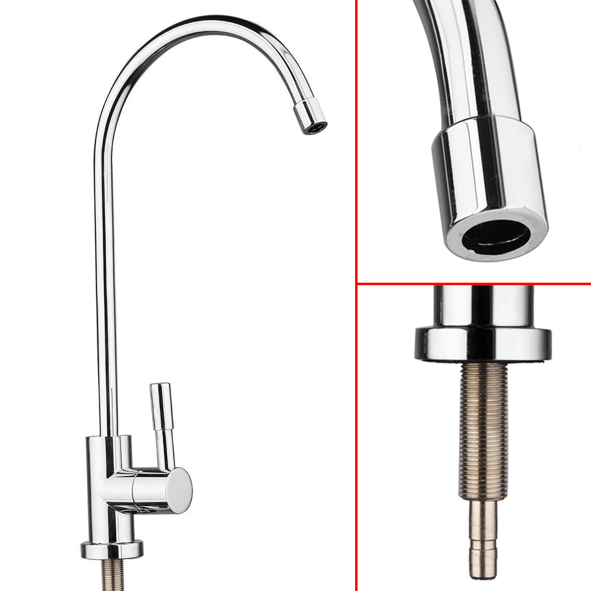 360 Degree Water Kitchen Sink Faucet Chrome Plated Finished Drinking RO Water Filter Reverse Sink Faucets
